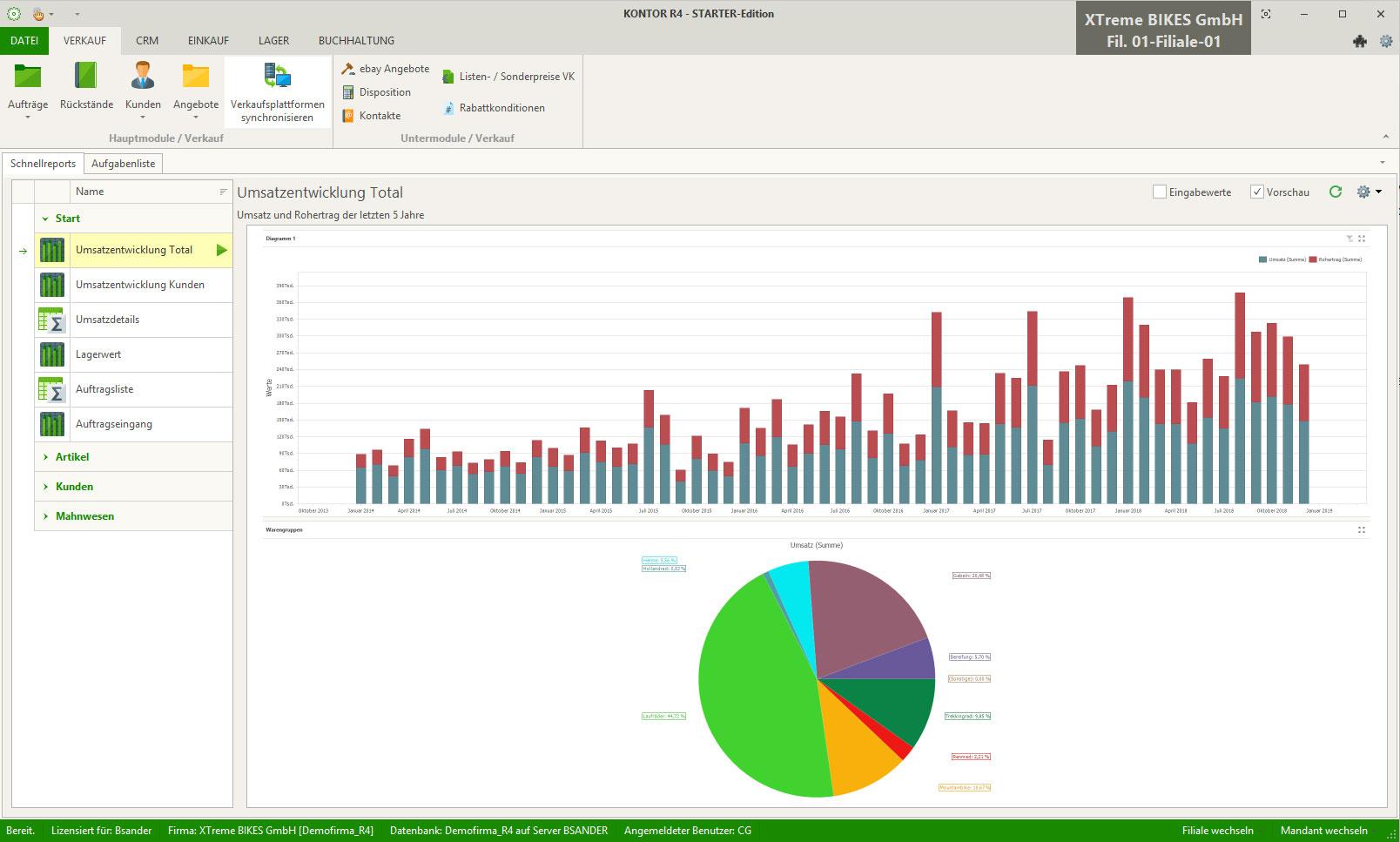Report- und Dashboardverwaltung