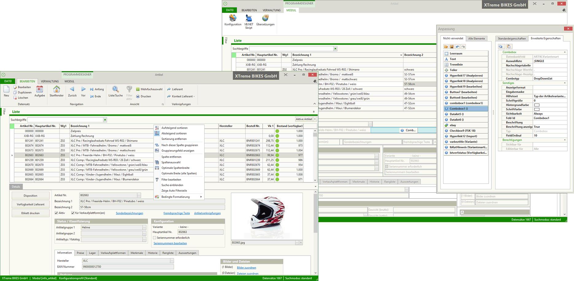 Übersicht Warenwirtschaft Kontor.NET R4